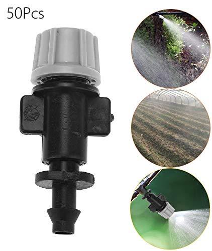 50 Teile/Satz Beschlagen Düsen Sprinkler Kopf Zerstäuber für Terrasse Garten Landwirtschaftlichen Gewächshaus Tropfbewässerung Outdoor Kühlsystem