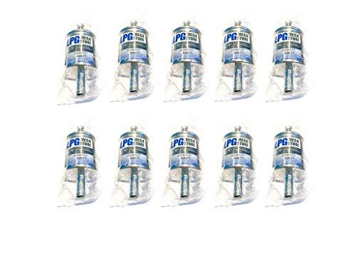 10x LPG Gasfilter Autogas Universal 11mm, 100mm, BRC KME (1,99€ pro Stück)