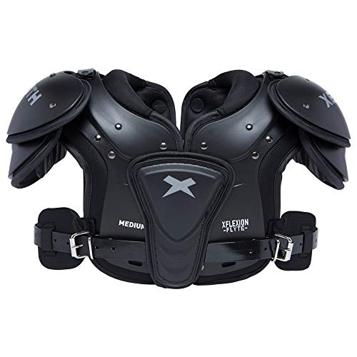 Xenith Flyte Youth Football Shoulder Pads for Kids and Juniors - All Purpose Protective Gear (Large)