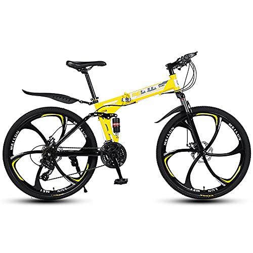 NAINAIWANG Bici Pieghevole Bike Bicicletta Pieghevole Adulti Mountain Bike da 26 Pollici Fuoristrada Pieghevoli Variabile 21/24/27 velocità Bicicletta Portatile Durevole Strada Città