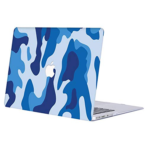 MacBook Pro 13 Case 2019 2018 2017 2016 Release A1989 A1706 A1708, AJYX Plastic Hard Shell Laptop Case Cover Compatible Newest MacBook Pro 13 Inch with/Without Touch Bar- Camouflage blue