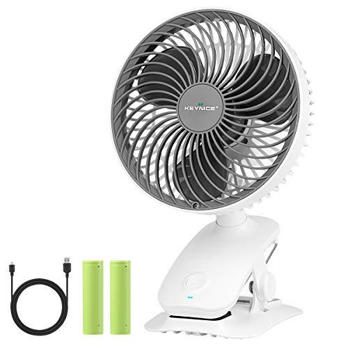 【自動首振り KEYNICE 扇風機 小型 充電式 卓上扇風機 usb扇風機 クリップ リズム風搭載 ミニ扇風機 超強風 大容量バッテリー 風量3段階調節 長時間連続使用 ホワイト