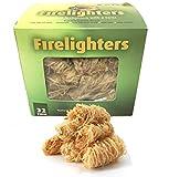 Veksun Fire Starters,Natural Firestarter Wood Wool Duraflame Long Burning Kindling for Fireplace,Campfire,Fire Pit, BBQ Grill,Wood Pellet Stove,Log Burner,Pizza Oven,Smokers-32 Pcs Firelighters