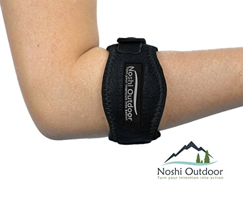 Best Tennis & Golfer's Elbow Band/Brace with Neoprene Compression Gel Pad - Great Support and Relieves Tendonitis, Arthritis & Forearm Pain - Adjustable Velcro Straps One Sizes Fits Men & Women 2-Pack