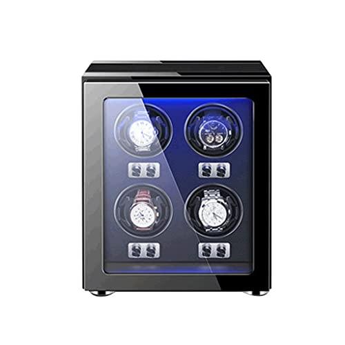 WRNM Cajas Giratorias para Relojes Caja Enrolladores Reloj Vertical con 4 Ranuras Ajustables Mejoradas Ver Almohadas para Hombres Y Relojes Automáticos Señora