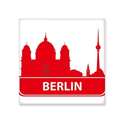 Berlijn Duitsland Rode Landmark Patroon Keramische Bisque Tegels voor het verfraaien van badkamer Decor Keuken Keramische Tegels Wandtegels S