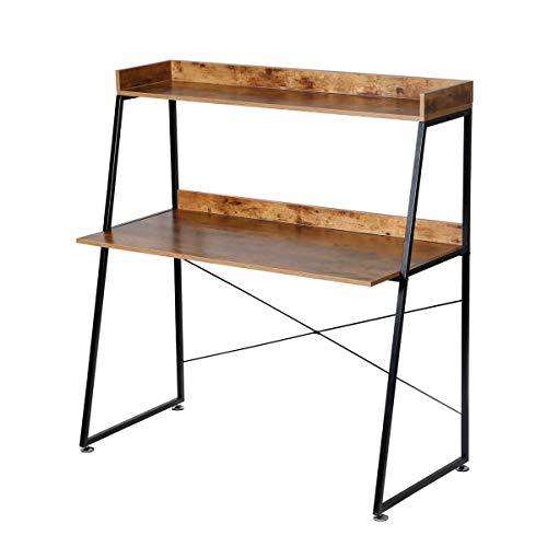 DESIGNA Study Desk 2 Tier Ladder Desk Office Desk Study Writing...