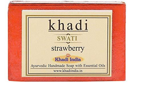 Glamorous Hub Khadi Swati Strawberry Soap 125 Gms (el empaque puede variar)