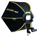 SMDV DIFF60 SPEEDBOX-S60 - Professional 24-Inch (60cm) Rigid Quick Folding Hexagonal Softbox for Speedlight Speedlite Flash