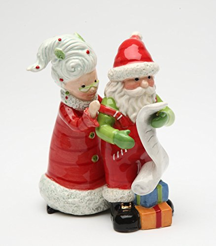 Mr. and Mrs. Santa Claus Naughty Or Nice xmas Salt and Pepper Shakers