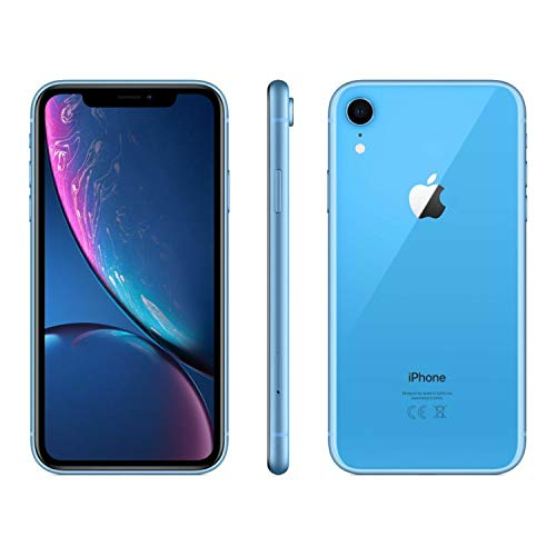 Apple iPhone XR, Fully Unlocked, 64 GB - Blue (Renewed)