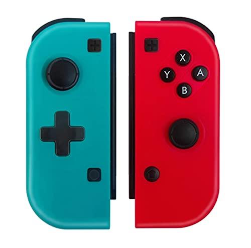Cambiar el Controlador inalámbrico Gamepad de Bluetooth Izquierda y Derecha para el Interruptor Nintend NS Juego de alegría Mango de Agarre para Switch Joypad (Color : Blue Red)