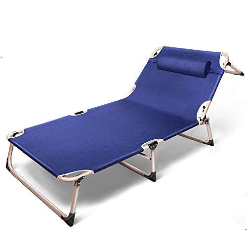 Tumbona plegable reclinable para jardín, con reposacabezas ajustable, respaldo reclinable y reclinable para patio, balcón, picnic, playa, 194 x 68 x 30 cm, B, 194*75*30cm