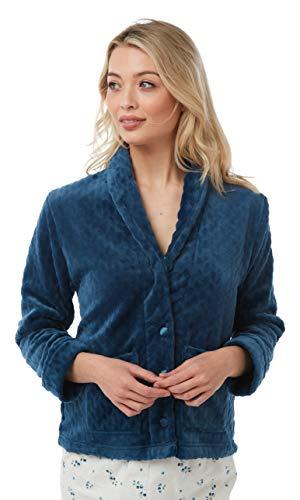 Supersoft fleece badjas met reliëf voor dames in 2 kleuren
