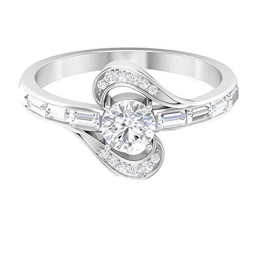 Rosec Jewels 18 quilates oro blanco baguette-shape round-brilliant-shape H-I Diamond