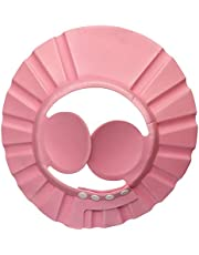 قبعة استحمام للحماية من الشامبو للاطفال , زهرى