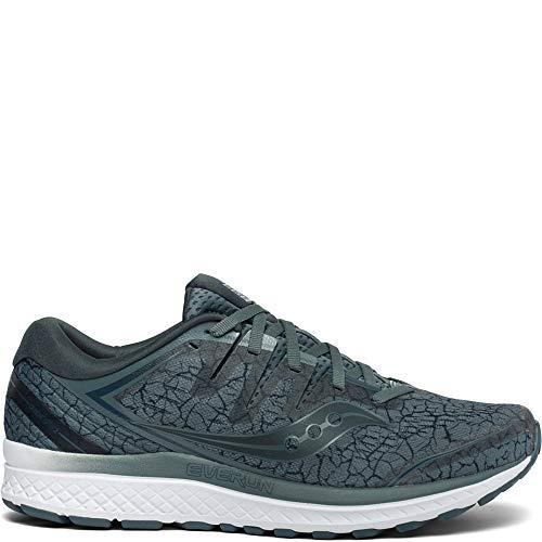 Saucony Men's Guide ISO 2 Running Shoe, Steel Quakemustard, 12 M US