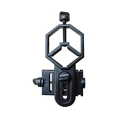 Cellphone Telescope Adapter Mount, Work with Binocular Monocular Spotting Scope Microscope for iPhone and More