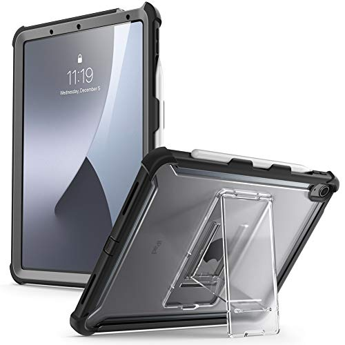 i-Blason Ares Case for iPad Air 4 10.9 Case (2020), Full-Body Kickstand with Built-in Screen Protector Cover with Pencil Holder (Black)