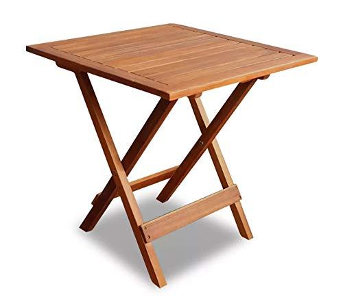 Mesa auxiliar plegable de jardín de madera para casa, café, Bistrot, jardín, patio, terraza, 46 x 46 x 47 cm