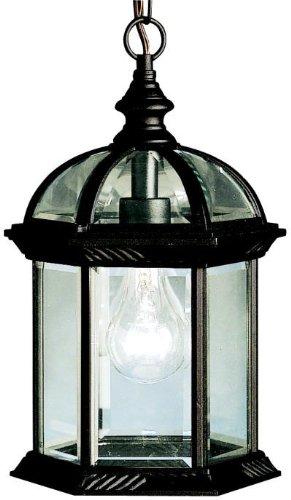 Kichler 9835BK, Barrie Cast Aluminum Outdoor Ceiling Lighting, 100 Total Watts, Black (Painted)