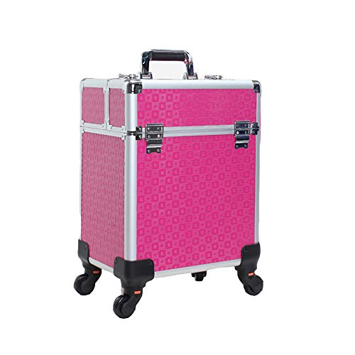 Aluminum Alloy Makeup Trolley Case, Multi-Layer Large Capacity Lockable Travel Beauty Trolley, Multi-Functional for Nail Art Hairdressing Tattoo Tool Beauty Box ZDDAB