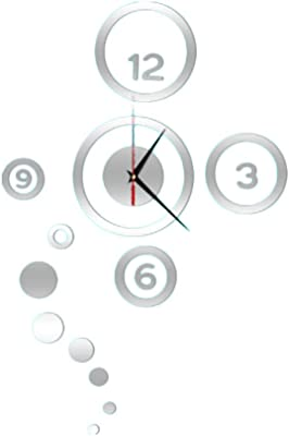 LAMEIDA Reloj de Pared 3D del Etiqueta de la Pared Adhesivo de ...