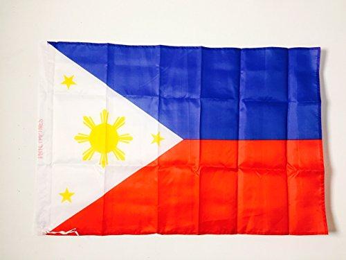 AZ FLAG Flagge Philippinen 90x60cm - PHILIPPINISCHE Fahne 60 x 90 cm Scheide für Mast - freiner Polyester flaggen