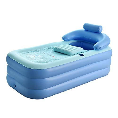 Bañera hinchable plegable para adultos, Niños Piscina Inflable, Parejas Baño Barril Plegable Adulto Engrosado, bañera caliente SPA