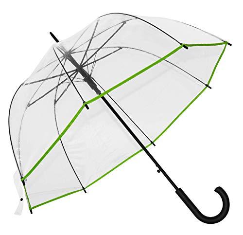 Baciami transparante dames paraplu - automatische klok paraplu met AUF-automaat, ⌀ 90cm, 350g, doorzichtig