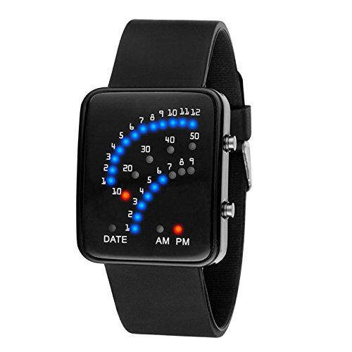 Wildlead LED reloj de pulsera electrónica Sector binario Digital Resistente Al Agua Mode Unisex par de relojes