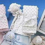 Gamberritos - Pack Dou dou y Manta Infantil 10459-80x110 - Color Blanco