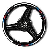 Zerald Pegatinas para Llantas de Moto Reflectante 17 Pulgadas Adhesivos Ruedas tecnología 3M (BMW)