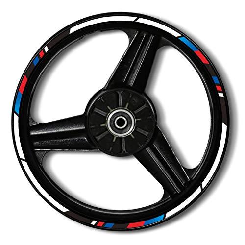 Zerald Pegatinas para Llantas de Moto Reflectante 17 Pulgadas Compatible con BMW Adhesivos Ruedas tecnología 3M (BMW)