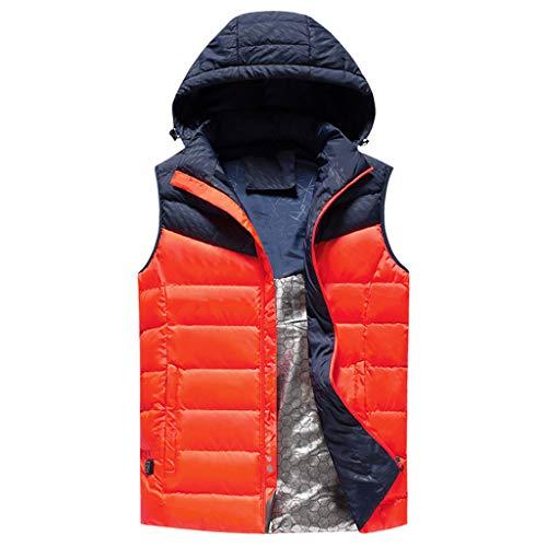 Heren vrouwen verwarmd vest en lichtgewicht constructie verwarming gilet, bestand tegen koude wind, fleecevest voor outdoor-activiteiten wandelen jacht motorfiets camping