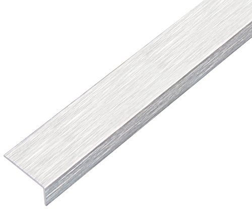 GAH-Alberts 489120 Winkelprofil-selbstklebend, Aluminium, edelstahldesign, hell, 1000 x 25 x 15 mm