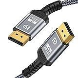 ディスプレイポートケーブル 2m DP to DP ケーブル 1.2 規格 4K@60Hz 4K@30Hz 2K@165Hz 2K@144Hz 4K*2K(4096*2160、3840*2160、2560*1440、1080P) Displayport ケーブル 21.6Gbpsハイスピード 28AWG