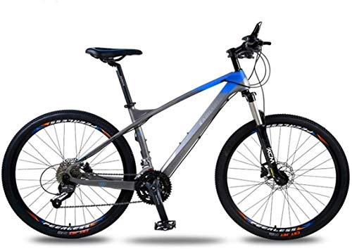 HCMNME Durable Bicycle, Outdoor Sports Hard Tail Mountain Bike, Carbon Fiber Bicycle 26 inch 30 Speed Shift Hard Tail Double Oil disc disc Brake Adult Offroad Outdoor Riding Trip Outdoor Sports