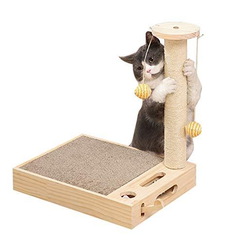 Homydom猫 つめとぎ ボール 人気 面白い ペットおもちゃ ねずみ 猫 爪研ぎ 痒み止め 引っ掻く一台三役 組み立て簡単