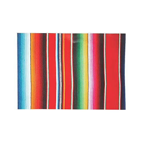 Fun Express Serape Fiesta Placemats (Set of 50) Cinco de Mayo Party Supplies