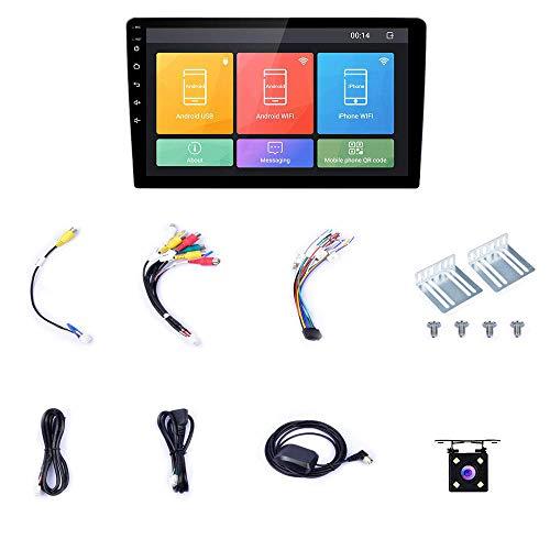 RETYLY Doble DIN EstéReo para AutomóVil 10.1 Pulgadas Android 8.1 Pantalla de Prensa Radio para AutomóVil con NavegacióN GPS Soporte WiFi/Enlace Espejo/CáMara Respaldo/DVR/USB