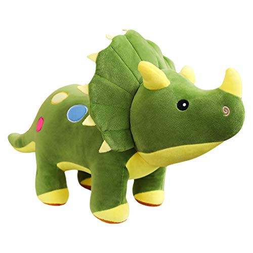 Tomaibaby Plush Dinosaurier Kuscheltiere Spielzeug Plüsch Dinosaurier Puppenspielzeug Schöne Triceratops Tierspielzeug für Kinder