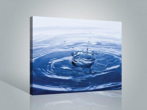 1art1 Agua - Splash! Gotas De Agua Cuadro, Lienzo Montado sobre Bastidor (80 x 60cm)