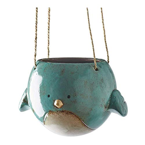 KALALOU Bluebird Ceramic Hanging Planter
