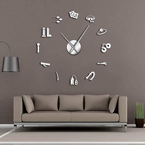 GUDOJK Vector DIY winkel muur klok intieme muur kunst papier spelletjes moderne kunst klok muur klok huis leven kamer decoratie 27inch