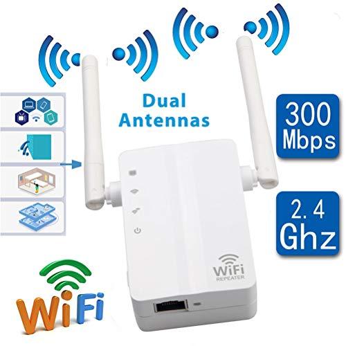MC.PIG Extensor de wifi-300Mbps Extensor de Rango de WiFi Amplificador de señal de Internet Amplificador de WiFi para Toda la casa La Cobertura de WiFi admite el Modo de repetidor/Punto de Acceso