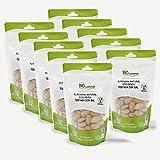BIOCOMERCIO | Almendra Natural Ecológica Tostada con Sal | Almendras Tostadas con Sal | 1 kilo | 10 bolsas x 100 gr | Almendras enteras | Frutos secos | Producto ecológico y orgánico | BIO