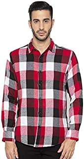 Nick&Jess Mens Check Plaid Slim Fit Casual Shirt