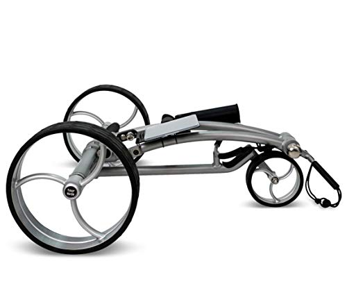 tour-made RT-650S PRO Quickfold Lithium Elektro Golftrolley - mit elektronischer Bergabfahrbremse - Golftrolley Elektrisch Deutscher Händler NEU 2021 Silber-Silber - 2