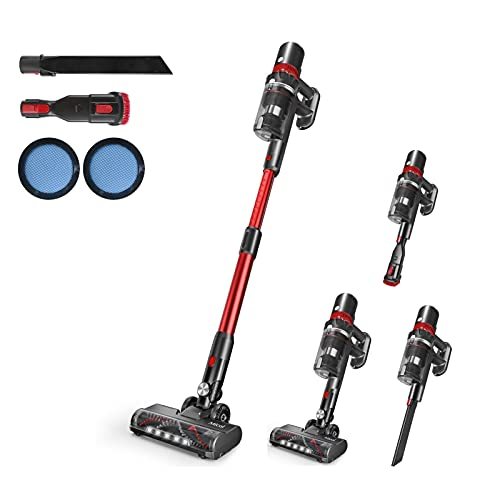 Micol Cordless Vacuum Cleaner, 27Kpa Powerful Suction 4 in 1...
